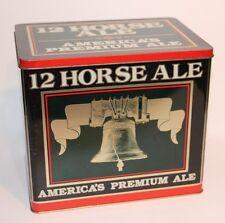 VINTAGE GENESEE 12 HORSE ALE 6 PACK LIBERTY BELL METAL TIN BOX ADVERTISING