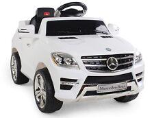Macchina Elettriche Elettrica Bambini Mercedes ML 350 Bianco 2 Motori da 6V Suv
