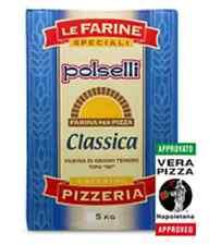 """Farina grano tenero """"00"""" Polselli CLASSICA PIZZERIA pizza napoletana forno 5 kg"""