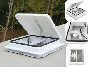 White Campervan Boat Horsebox Camper Skylight Roof Vent Motorhome 420x420mm