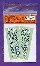 Mark I Decals 1/144 RAAF Roundels (2 Sets) # 14417