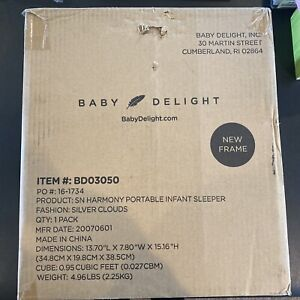 Baby Delight SN Harmony Portable Infant Sleeper Silver Clouds