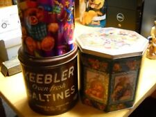 3 Tin Cans - One Keebler Saltines Can