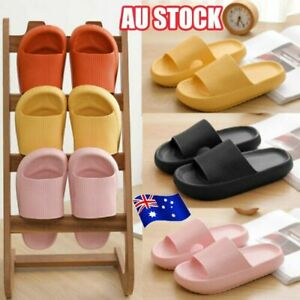 PILLOW SLIDES Sandals Ultra-Soft Slippers Extra Soft Cloud Anti-Slip Shoes AU SZ