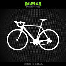 Road Bike Window Decal - Cycling, Cyclist - White or Choose Color