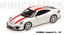 Minichamps 870066220- Porsche 911R – 2016 – White W / Red Rayas 1:87