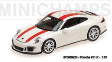 Minichamps 870066220- Porsche 911 R –2016 – White W/ Red Rayures 1:87