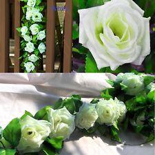 8Ft Artificial Fake Silk Rose Flower Ivy Vine Garland Xmas Wedding Party Decor