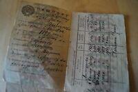 1936 Reisepass Pass Passport Ausweis UdSSR Sowjetunion Stalin Ukraine ID паспорт