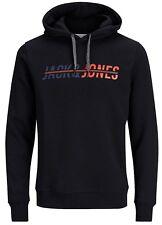 JACK & JONES Men's Overhead Hooded Hoodies & Crew Neck Sweatshirts Tops Jumper