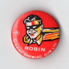 Vintage 1960s  A&BC Chewing Gum Batman Tin pin Badge Robin H&S Portrait