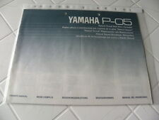Yamaha P-05 Owner's Manual Operating Instructions Instructions New