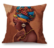 African Girl Sofa Throw Pillow Cover