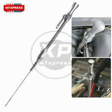 Stainless Braided Oil Pan Dipstick Passenger Side For SBC Chevy 305 350 400 5.7