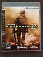 Call of Duty: Modern Warfare 2 (PlayStation 3, 2009) Complete w/Manual