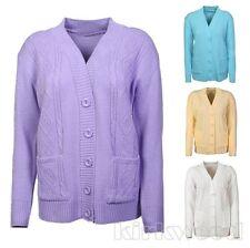 Button V Neck Cardigans Unbranded Women's