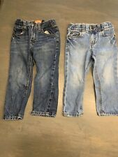 2 Pairs Of Toddler Boys Jeans Old Navy Carter's Adjustable Waist 2T