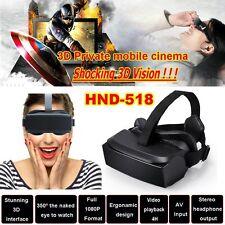 "Gafas 3D - 2D VR HMD-518 Realidad Virtual Pantalla 1080p Cine Game Video 80"" HD"