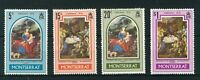 Montserrat 1970 Christmas full set of stamps. MNH. Sg 255-258.