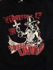 WEDNESDAY 13 TOUR SHIRT MURDERDOLLS SLIPKNOT FDQ METAL ROCK
