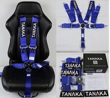 "1 TANAKA BLUE 5 POINT CAMLOCK RACING SEAT BELT HARNESS 3"" SFI 16.1 CERTIFIED"