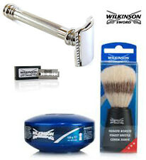 WILKINSON SWORD DOUBLE EDGE SAFETY RAZOR SHAVING SET - COMPLETE SHAVING SET