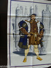 King Henry VIII Tea Towel vintage made in Ireland