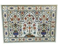 4'x3' Marble Top Dining Table Pietra Dura Multi Floral Inlay Decorates Gift W003