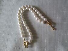 "Avon Vintage **Double Strand Faux Pearl Wrist Bracelet** 7 1/2"" long *New*1994*"