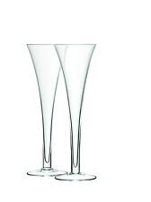 LSA International Bar Hollow Stem Clear Flute Glasses  - Pack of 2 - G302-07-991