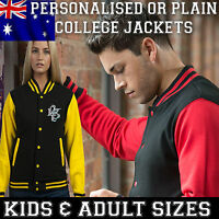 Personalised Custom College Varsity Jacket Baseball KIDS ADULTS birthday gift NY
