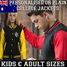 Personalised Custom College Varsity Jacket Baseball KIDS ADULTS birthday gift NY