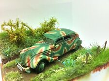 Peugeot 402B armée 1940 roues Pilote, french army staff car, PKW, WWII,1:72 ALBY