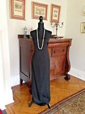 Vera Wang Women Evening Dress Sz 8 Sleeveless Spaghetti Strap Black Ribbon