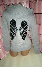 XS Victoria's secret angel wings sequin hoodie gray black supermodel