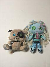 Monster High Lagoona Blue First Wave Plush Rag Doll & Wazit Dog Pet Lot