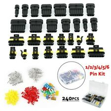 1 2 3 4 5 6 Pin Car Waterproof Electrical Terminal Wire Connectors + Fuses MA867