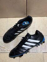 Adidas Goletto V FG Soccer Cleats Shoes Mens 12 US Black White Stripes Blue Sole