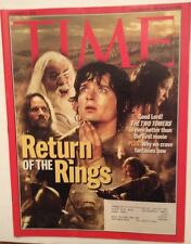 RETURN OF THE RINGS TWO TOWERS TIME MAGAZINE DECEMBER 2 2002 VERY GOOD