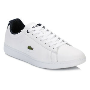 Lacoste Carnaby Evo Leather Trainers UK Size 3.5 Free P&P