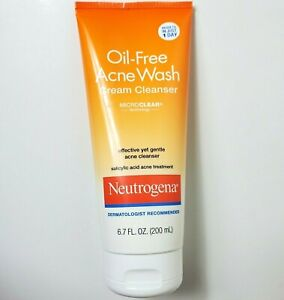 Neutrogena Oil Free Acne Wash Cream Cleanser Salicylic Acid 6.7oz Exp: 01/22