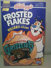NBA  MEMPHIS/ Vancouver Grizzlies 1994 Canadian Kellogg's Frosted Flakes Cereal