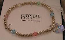 Genuine Swarovski  CRYSTAL LIZED Pastel Iridescent Heart Stretch Bracelet in Box