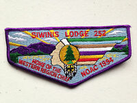 SIWINIS OA LODGE 252 LOS ANGELES AREA 2015 SERVICE FLAP PATCH NOAC 1994 DELEGATE