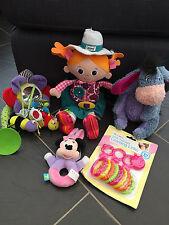 Lamaze Carly Cowgirl Ih-Oh Minnie Mouse Sonaglio Giocattolo Auto 9 Pezzi collegamenti Rosa