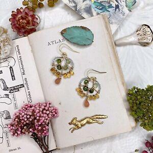 Multigem 14K Gold Filled Handmade Sundance Garden Earrings