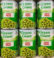 6 Cans Green Giant Sweet Peas 15.25oz *~* FAST FREE EXPEDITED SHIPPING ! *~*