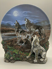"""The Hamilton Collection by Al Agnew """"Midnight Serenade"""" Plate Realm of the Wolf"""