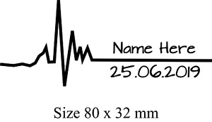 Personalised Heart Beat Pulse Birth Date Temporary Tattoo x2  HIS AND HERS