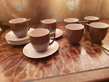 More details for elegant branksome graceline, 4 x coffee cups and saucers. pixie brown and sahara